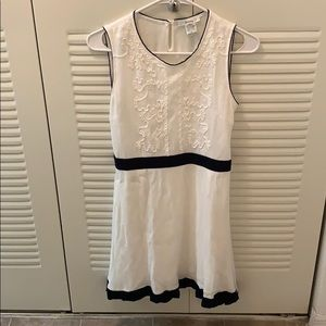 Esley rayon white dress